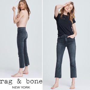 rag & bone Nina High-Rise Ankle Flare Jeans NEW